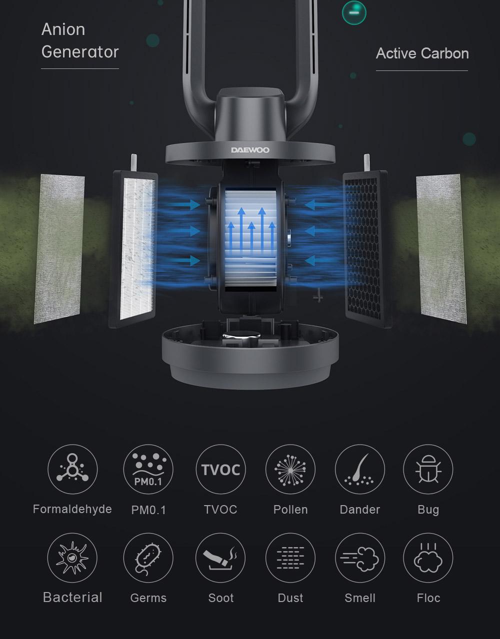 Bladeless tower purifying fan (2)