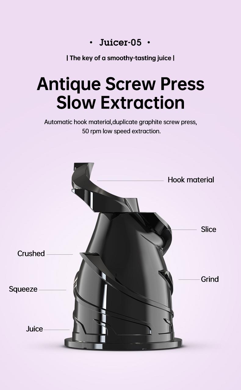 slow juicer machine detail 06